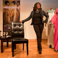 Mary Wilson of The Supremes unveils the Come See About Me exhibition.